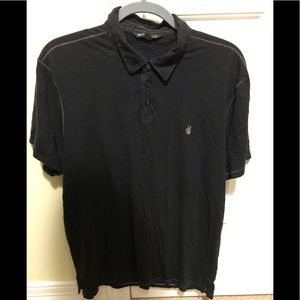John Varvatos designer black polo L